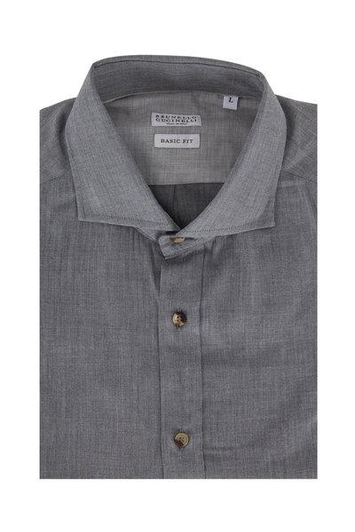 Brunello Cucinelli - Gray Basic Fit Sport Shirt