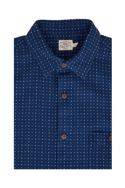 Faherty Brand - Block Island Jacquard Short Sleeve Sport Shirt