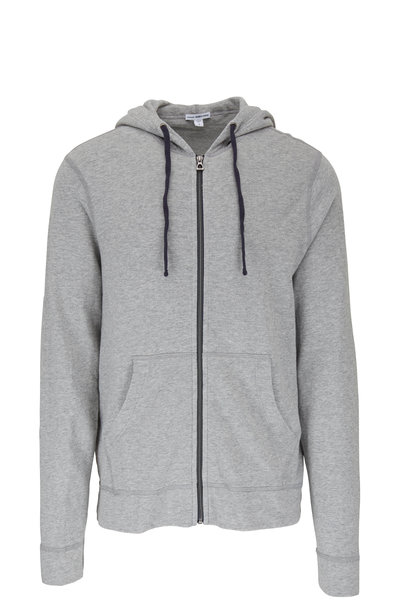James Perse - Gray Terry Front Zip Hoodie