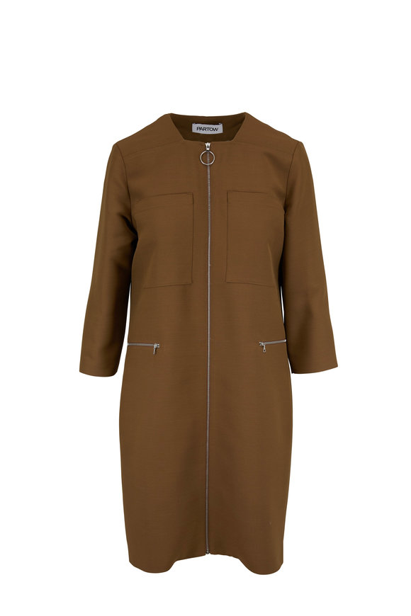 Partow Jaden Caramel Long Sleeve Pocket Dress