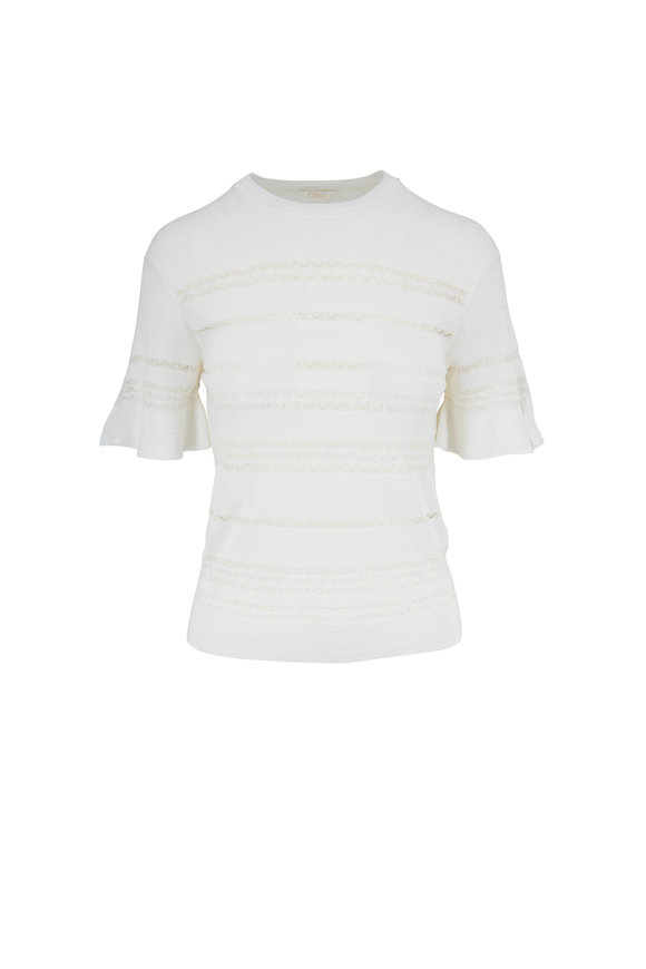 Chloé Vanilla Ice Lace Knit T-Shirt