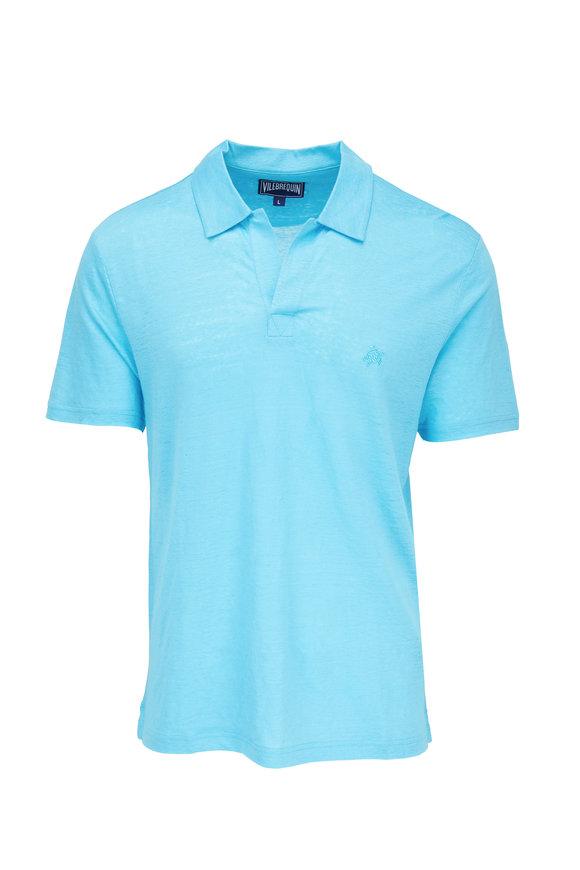 Vilebrequin Pyramid Horizon Linen Jersey Short Sleeve Polo