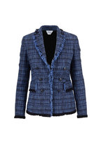 Akris Punto - Navy Blue Tweed Denim Double-Breasted Jacket