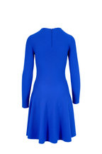 Akris Punto - Electric Blue Wool Long Sleeve Knit Dress