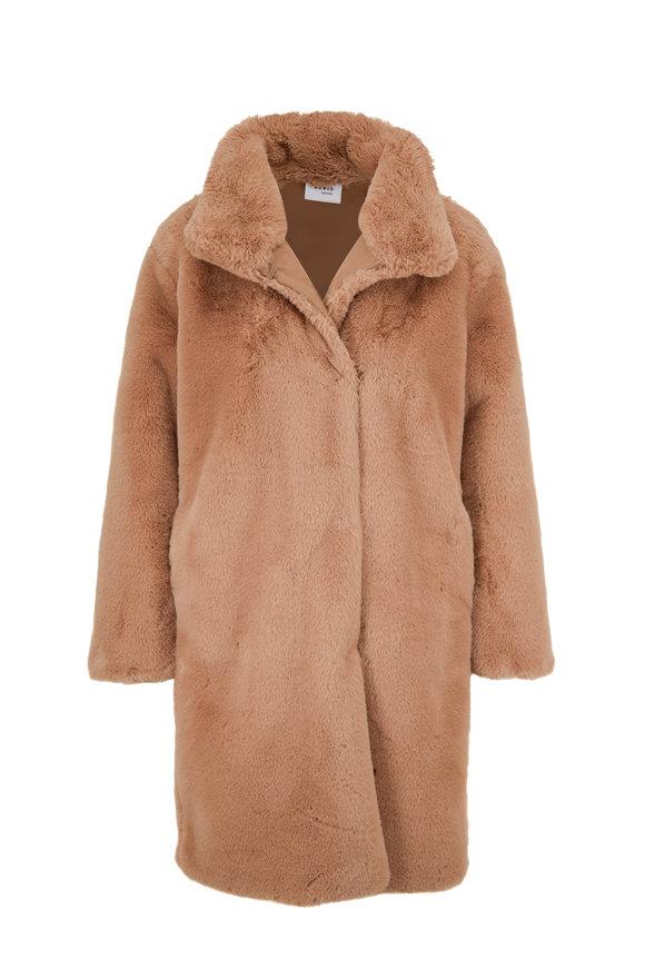 Akris Punto Camel Faux Fur Coat