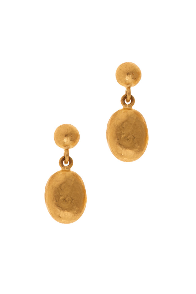 Roxanne Yellow Gold Mini Earrings
