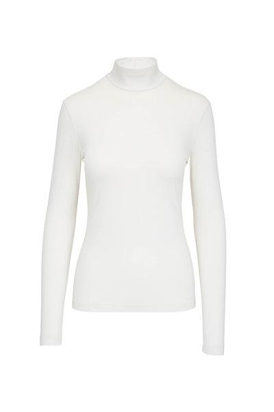 Akris Punto - Off White Back Zip Turtleneck