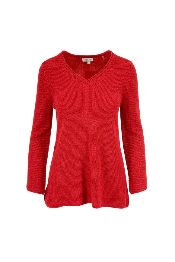 Kinross Easy Saffron Cashmere V-Neck Sweater