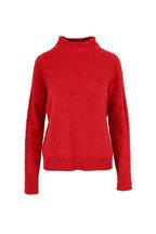 Kinross - Saffron Cashmere Mixed Rib Sweater