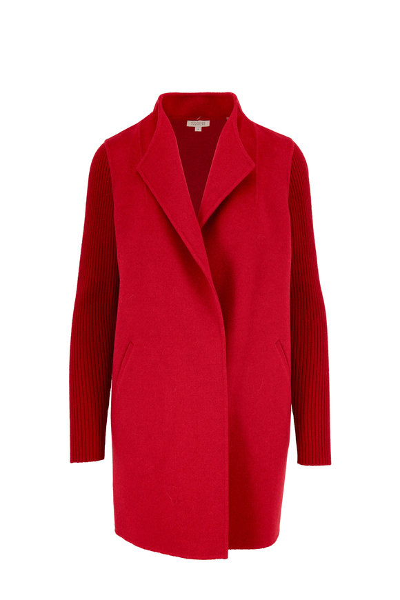 Kinross Garnet Wool & Cashmere Sweater Coat