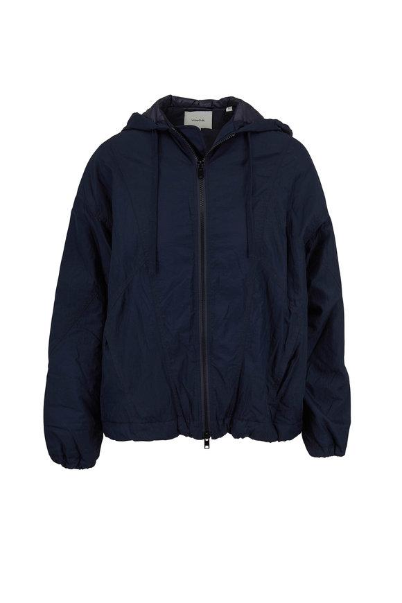 Vince Hematite Nylon Hooded Jacket