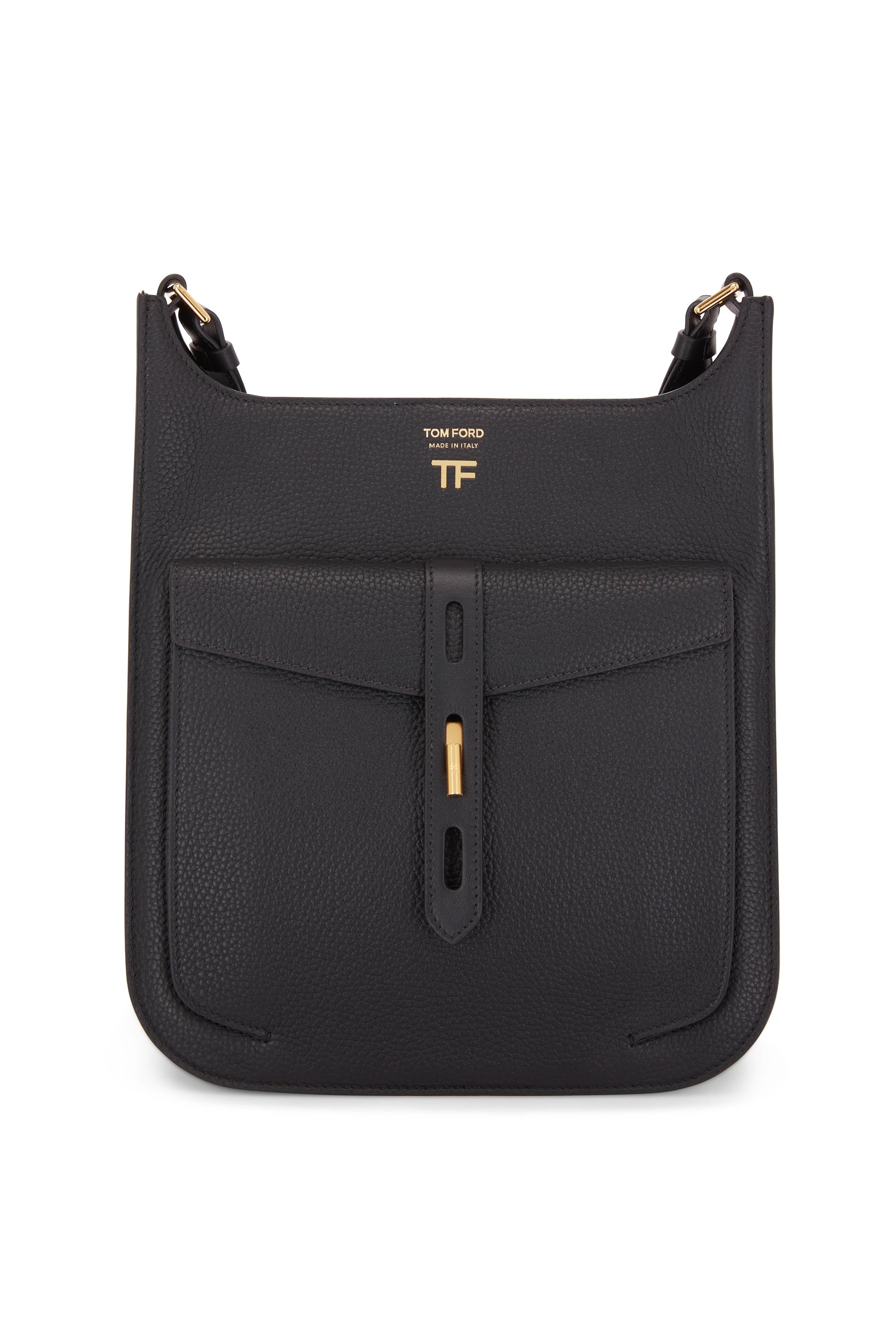 fba35dc87c64a Tom Ford - Rialto Black Grain Leather Medium Crossbody Bag ...