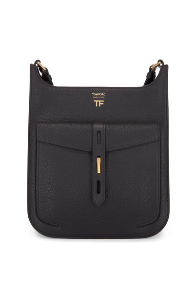 Tom Ford - Rialto Black Grain Leather Medium Crossbody Bag