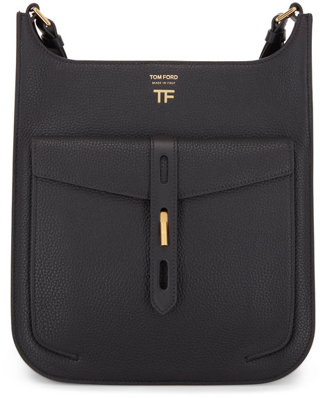 Tom Ford Rialto Black Grain Leather Medium Crossbody Bag