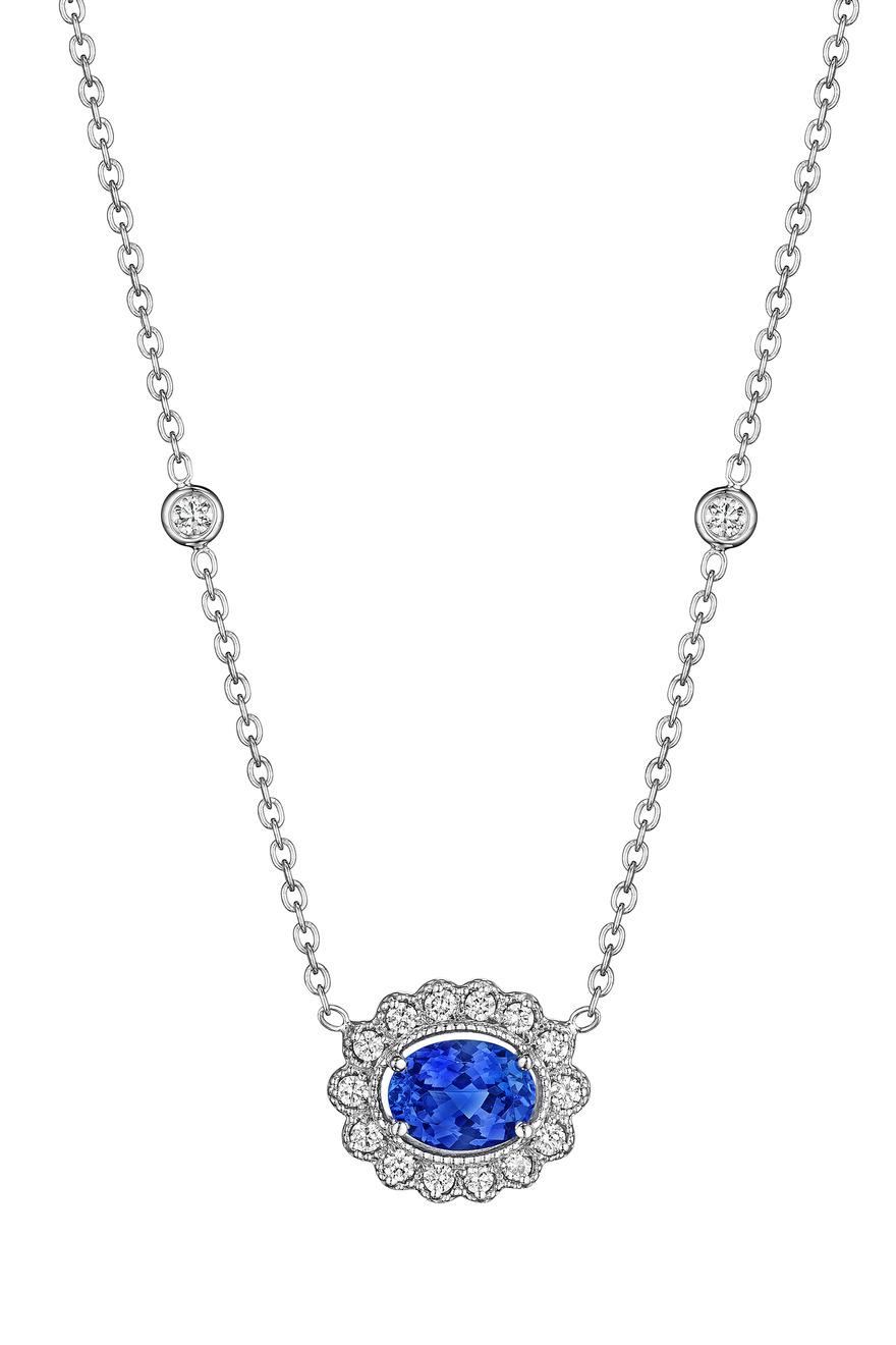 Diamond Tanzanite Pendant Necklace