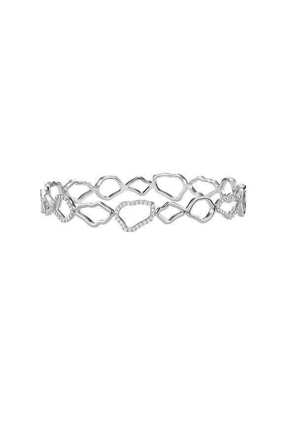 Kimberly McDonald 18K White Gold Outline Geode Diamond Bangle