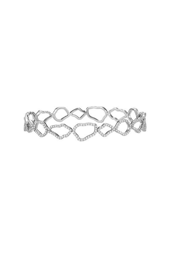 Kimberly McDonald 18K White Gold Diamond Outline Geode Bangle
