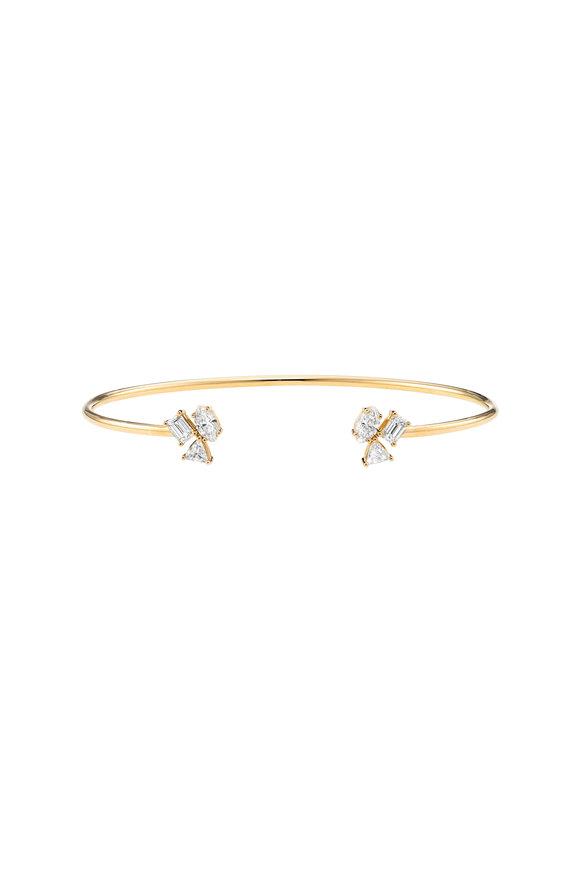 Kimberly McDonald 18K Yellow Gold Irregular Diamond Cluster Cuff