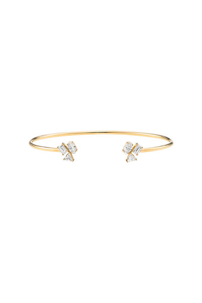 Kimberly McDonald - 18K Yellow Gold Irregular Diamond Cluster Cuff