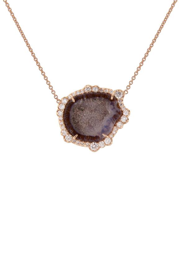 Kimberly McDonald 18K Rose Gold Geode Pendant Necklace