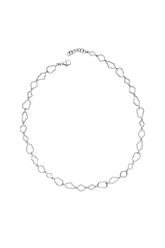 Kimberly McDonald 18K White Gold Micro Geode Outline Necklace