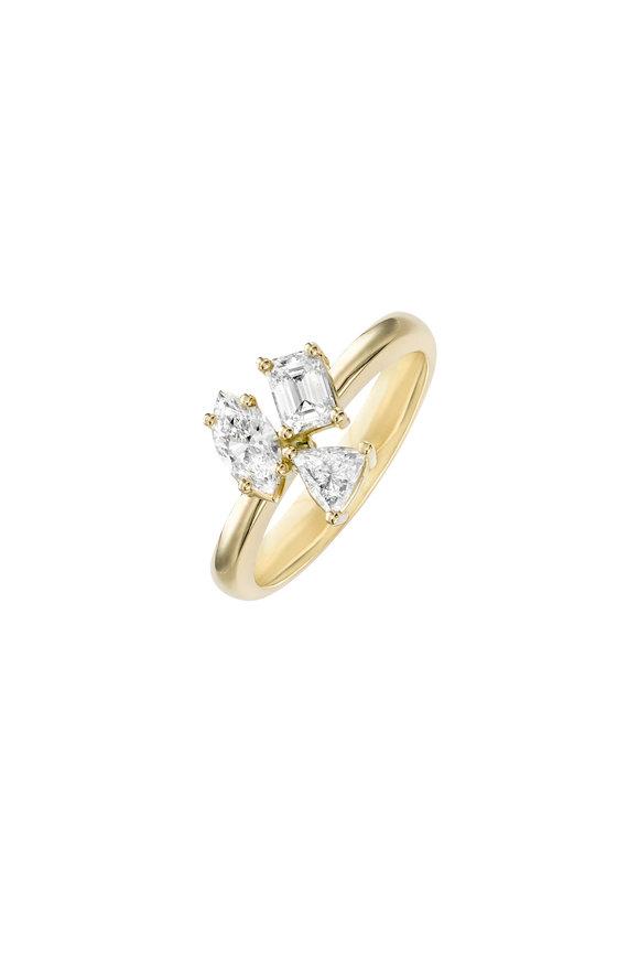 Kimberly McDonald 18K Yellow Gold Irregular Diamond Cluster Ring