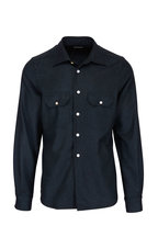 Kiton - Dark Green Wool Overshirt