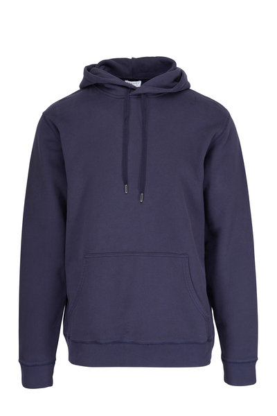 Sunspel - Navy Cotton Pullover Hoodie