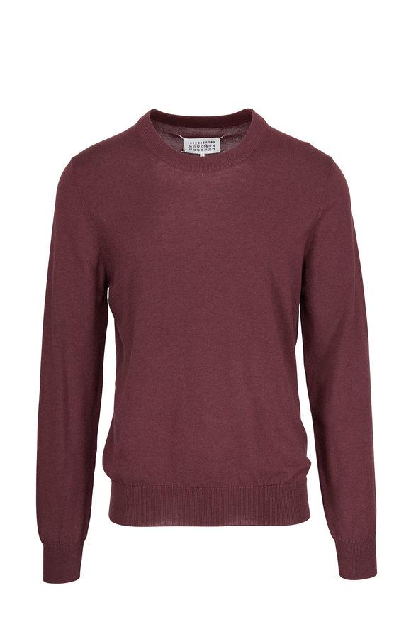 Maison Margiela Bordeaux Elbow Patch Crewneck Sweater