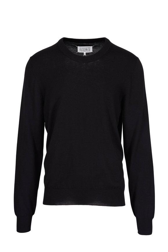 Maison Margiela Black Elbow Patch Crewneck Sweater