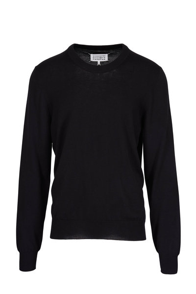 Maison Margiela - Black Elbow Patch Crewneck Sweater