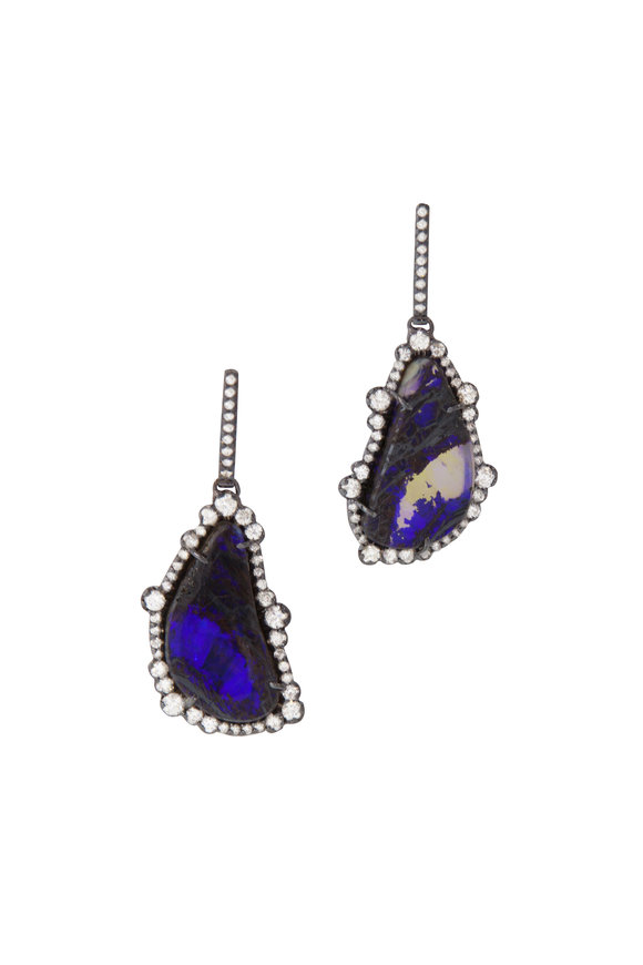 Kimberly McDonald 18K White Gold Boulder Opal Earrings