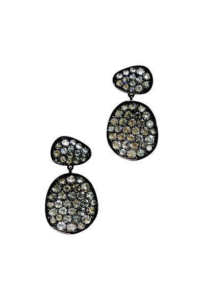 Etho Maria - 18K Blackened Yellow Gold Blue Topaz Earrings