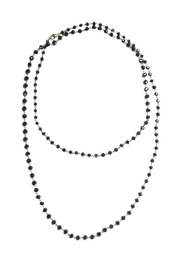 Etho Maria 18K White Gold Black Diamond Beaded Necklace