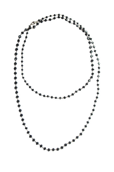 Etho Maria - 18K White Gold Black Diamond Beaded Necklace