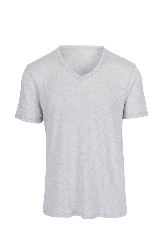 A T M Heather Pima Cotton V-Neck T-Shirt