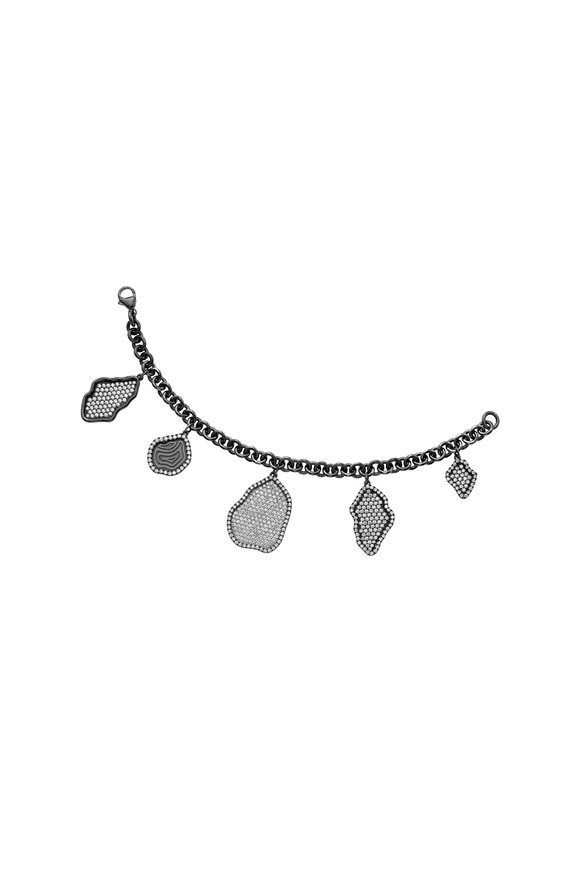 Kimberly McDonald 18K Blackened White Gold Charm Bracelet
