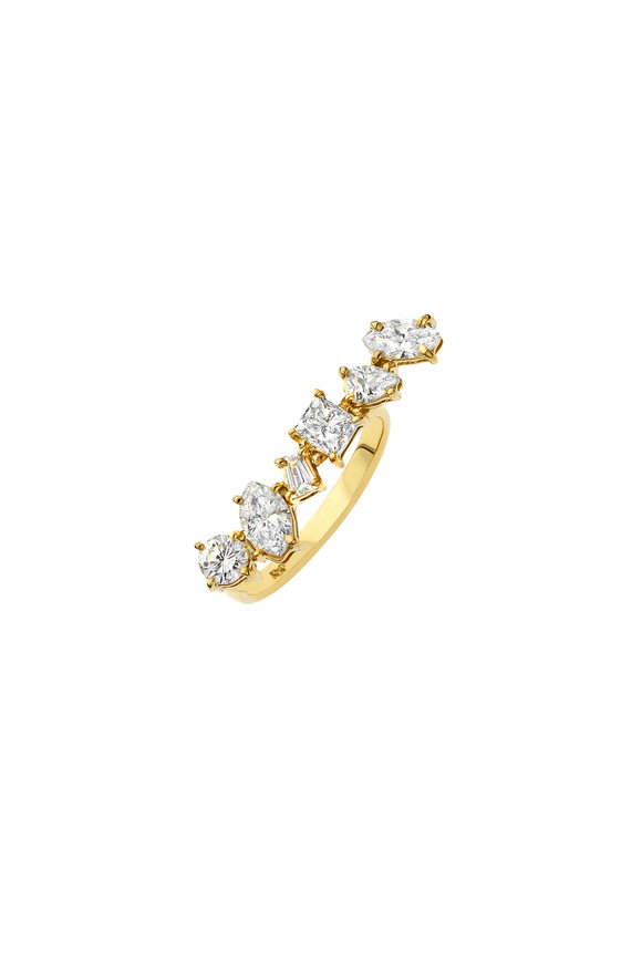 Kimberly McDonald 18K Yellow Gold Diamond Bar Ring