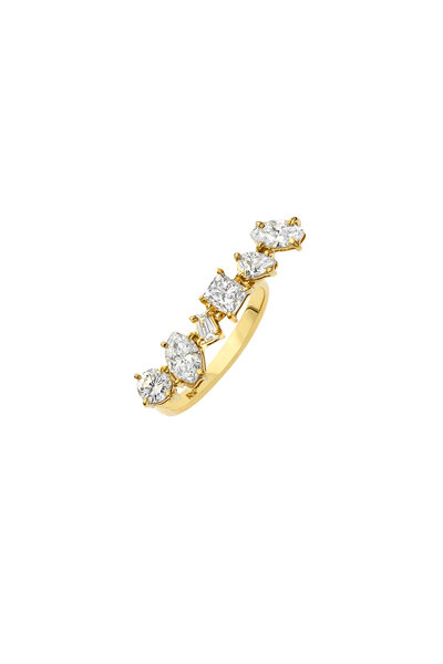 Kimberly McDonald - 18K Yellow Gold Diamond Bar Ring