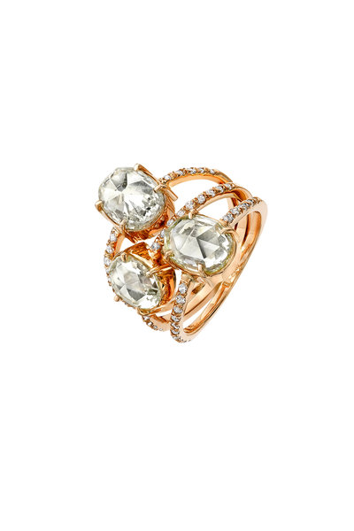Kimberly McDonald - 18K Rose Gold Triple Diamond Band