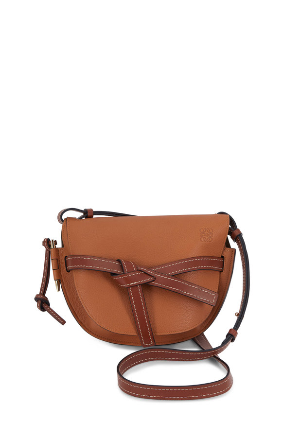 Loewe Gate Light Caramel & Pecan Small Front Flap Bag