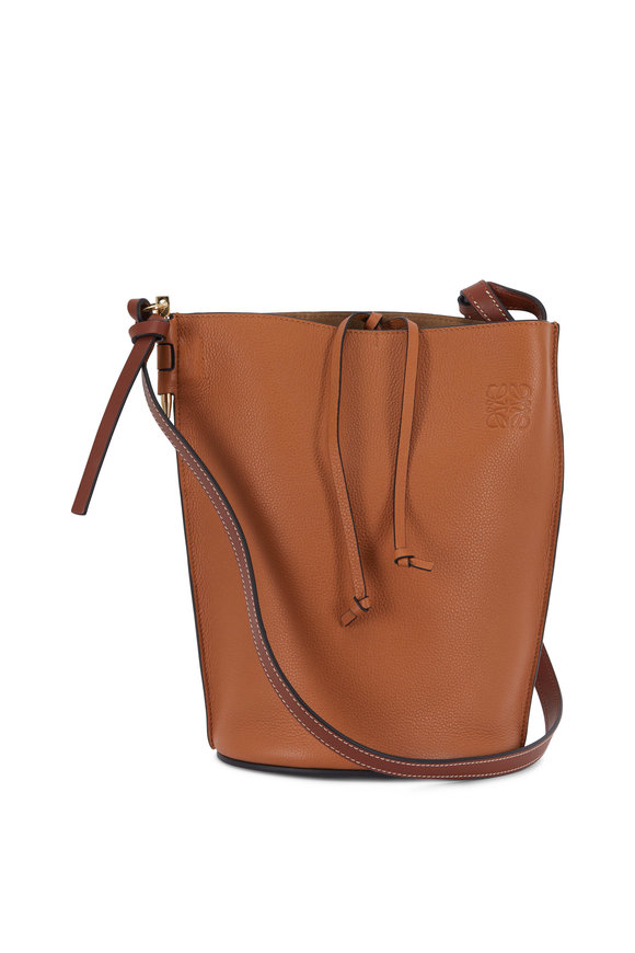 Loewe Gate Light Caramel & Pecan Leather Bucket Bag