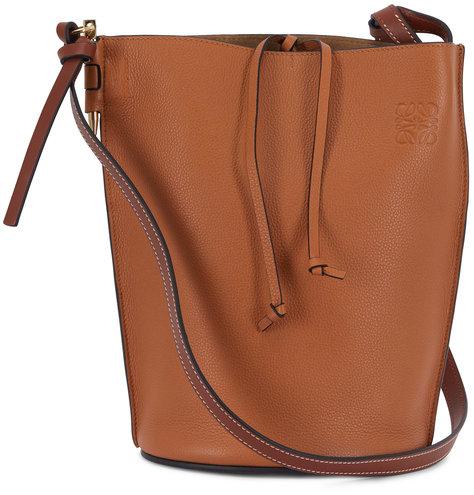 Loewe Gate Light Caramel & Pecan Leather Bucket Bag