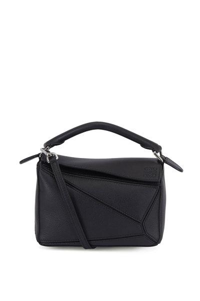 Loewe - Mini Puzzle Black Leather Crossbody Bag