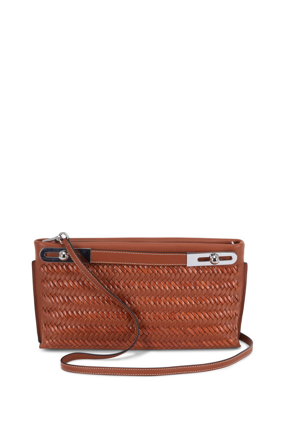 Loewe Missy Buffalo Smooth & Woven Leather Shoulder Bag