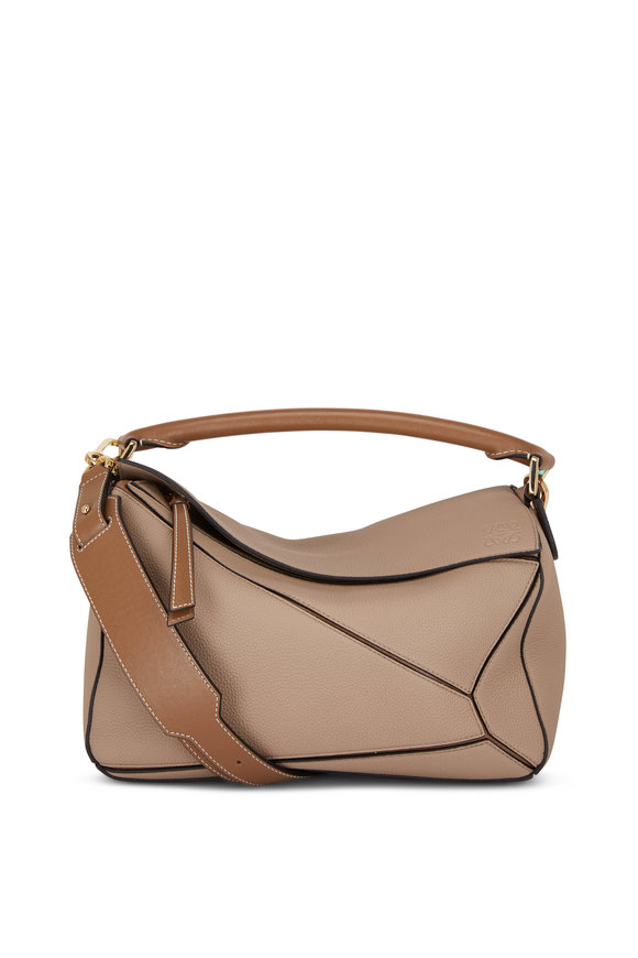 Loewe Puzzle Sand Leather Top Handle Bag
