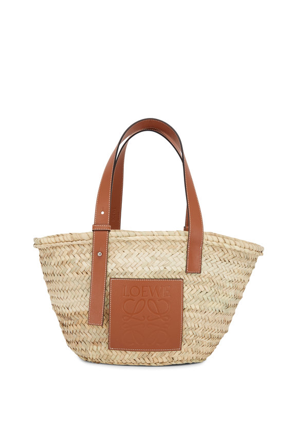 Loewe Basket Natural & Tan Raffia & Leather Bag