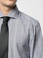 Isaia - Navy & Green Check Dress Shirt
