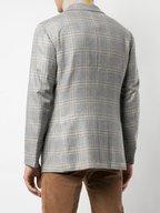 Kiton - Light Gray Plaid Cashmere Sportcoat
