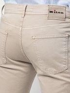 Kiton - Light Beige Five Pocket Slim Fit Pant